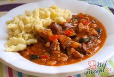 na šťávě, ale například i s vajíčky, Chili, Curry, Pork, Food And Drink, Beef, Snacks, Ethnic Recipes, Cooking, Kale Stir Fry