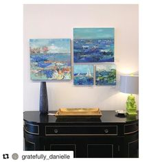 #Repost @gratefully_danielle with @repostapp    Happy Sunday Funday Y'all!! Check Out These Pretty Blue Paintings by One of Our Local Artists Pam Wingard!!