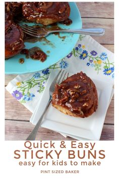 Sticky buns ready to eat lickety-split! Ooey Gooey caramel and pecans meet cinnamon rolls. This recipe is for homemade sauce to make boring premade cinnamon rolls AMAZING! #cinnamonrolls #stickybuns #breakfast Easy Cake Recipes, Best Dessert Recipes, Brunch Recipes, Yummy Recipes, Delicious Breakfast Recipes, Yummy Food, Chocolate Cake Recipe Easy, Sticky Buns, Retro Recipes