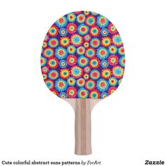 Shop Cute colorful abstract suns patterns Ping-Pong paddle created by ForArt. Ping Pong Paddles, Colorful, Patterns, Abstract, Cute, Prints, Design, Block Prints, Summary
