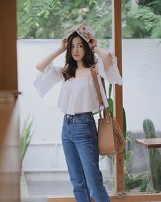 Baifern Pimchanok Fashion Beauty, Girl Fashion, Fashion Outfits, Womens Fashion, Thailand Fashion, Smart Casual Wear, Korean Outfits, Ulzzang Girl, Korean Fashion