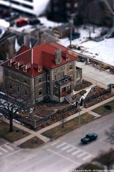 Ferguson House, Lincoln Nebraska - Tilt shift effect
