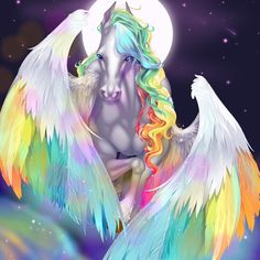 Star Lights by Asher-Bee Mystical Animals, Mythical Creatures Art, Magical Creatures, Fantasy Creatures, Unicorn And Fairies, Unicorn Fantasy, Unicorn Art, Unicorn Images, Unicorn Pictures