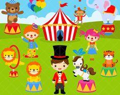 Imágenes Prediseñadas de circo / carnaval Clip Art / payasos / León Tamer / circo para imprimir / León / elefante / mono oso Clip Art