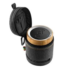 The midnight Chant Bluetooth Portable Audio System from #House of Marley is designed for audio playback from both compatible Bluetooth and wired devices via its ...