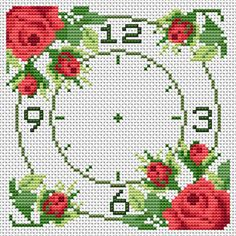 CrossStitch Chart #10 Roses - CrossStitchClocks.com