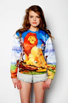 Not ashamed to say that I would probably wear this in real life... Lion King sweatshirt