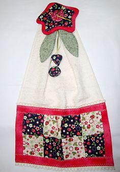 Como fazer um bate-mão decorado com patchwork e flor de tecido | Vila do Artesão