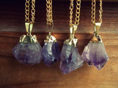 semper-vivum:  Amethyst. Great for activating creative energies and promoting vivid dreams. Also, I need these necklaces, wow.