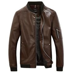 Slim Fit PR Leather Jacket