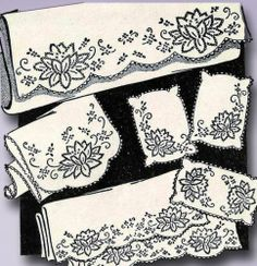 1940s 50s Original Uncut Aunt Martha's Cross Stitch Waterlilies Transfer | eBay