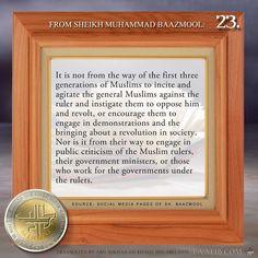 Week 23: The first generations did not spread criticisms of the Muslim rulers and agitate the people to overthrow them #minhaj #taalibdotcom  #quranandsunnah #followsunnah #ahlulsunnah #islam #deen #quran #hadith #islamicreminders #muslim #dawah #islamicquotes #salaf #salafi #salafiyyah #salafy #manhajsalaf #salafee