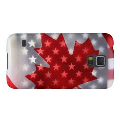 Canada with America flags Galaxy S5 Covers
