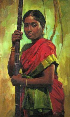 """Painting, 20 x 30"""" @S.Elayaraja"""