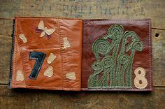 Custom made leather children's book. AMAZING.