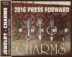 Arrow Charms for DIY Jewelry Press Forward YW 2016 Mutual Theme. Craft Supplies for LDS activities or gifts, pendants, bracelets, jewelry by templesquares on Etsy