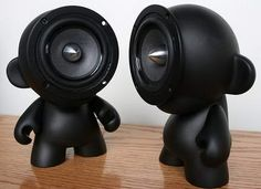 Munny Fashionable Toys - StyleFrizz Diy Speakers, Stereo Speakers, Desktop Speakers, Homemade Speakers, Portable Speakers, Hifi Audio, Car Audio, Home Theater, Vinyl Dolls