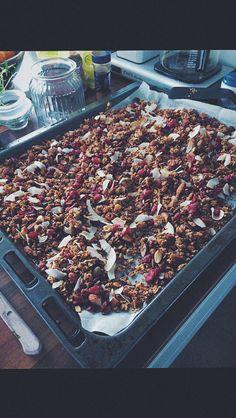 Granola cranberries coconut