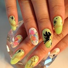 Tinker bell on nails