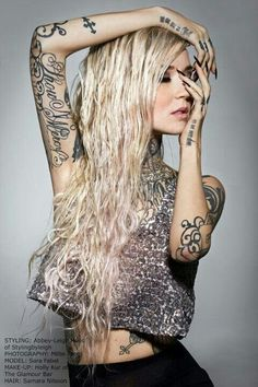 Sara Fabel, love her tattoos.