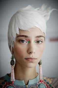 #Coiffure signée L'Oréal Professionnel pour Manish Arora P/E 2014 #FW