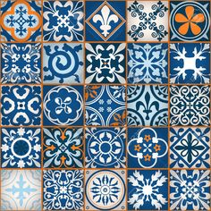 Odorless and healthy choices from custom wallpaper leader Maggenta. For a better life, Blue Moroccan tile set, ceramic pattern , custom wall mural. Wall Paint Patterns, Tile Patterns, Textures Patterns, Painting Patterns, Texture Illustration, Blue Moroccan Tile, Custom Wall Murals, Artistic Tile, Clay Tiles