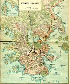 Map of Helsinki, Finland