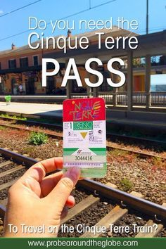 Read this ultimate guide for Cinque Terre train travel that explains the use of the Cinque Terre Pass and how to use the Cinque Terre train card. Italy Travel Tips, Rome Travel, Budget Travel, Italy Train, Backpacking Europe, Travel Packing, Europe Packing, Traveling Europe, Packing Lists