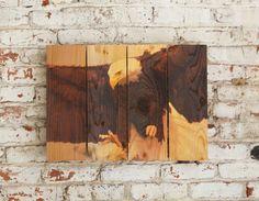 22x16 Bald Eagle on Cedar Wood, Wildlife Art, Indoor Outdoor Safe Wall Art, Home Decor, Man Cave Wall Art (BAE2216)