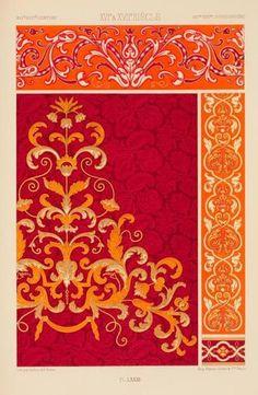 XVIe siècle (IIe partie) et XVIIe siècle: tentures décoratives à dessins d'applique. ([188-?]). Image ID: 100245  [via antiquememes]