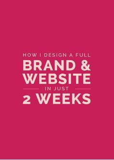 How I Design a Full Brand and Website in Just 2 Weeks - Elle & Company More tips available on www. Web Design Blog, Logo Design, My Design, Graphic Design, Flat Design, Brand Design, Branding Your Business, Business Design, Creative Business