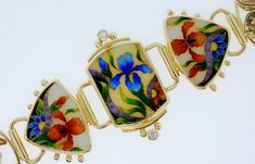 contemporary Enamelling in the Art Nouveau style by the artist Tricia Young / Fine Jewelry by Francis & Linelle Lynch