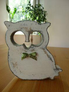 drewniana sówka #owl #sowa #handmade