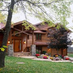 Rustic Home Siding Exteriors | Add a rustic vibe with natural cedar siding. More home exteriors: http ...