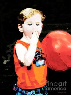 'Boy With A Balloon' - a digital painting based on a series of candid shots by Nancy E Stein.  For more information on this painting, please click the image.  To see more of Nancy's work, please visit 1-nancy-stein.artistwebsites.com