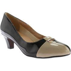 Women's Beacon Shoes Barbara Pump /Taupe Patent Polyurethane (US Women's (Regular))