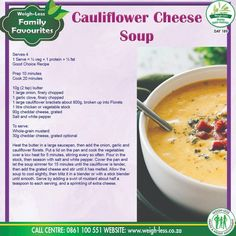 Cauliflower Cheese, Diabetic Friendly, Cheeseburger Chowder, Onion, Protein, Food And Drink, Soup, Healthy Recipes, Baking
