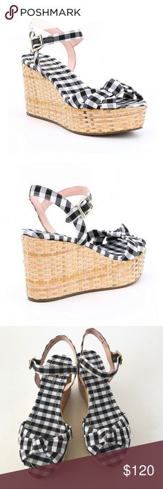 18c15e3df7 NWT Kate Spade Tilly Gingham Wedge Sandals 8 From kate spade new york, the  Tilly