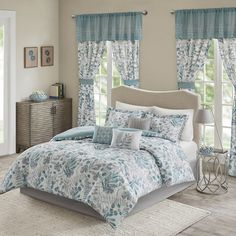 Create the picture-perfect master bedroom with this gorgeous Madison Park Lyla comforter set. In blue. Comforter Sets, Comforters, Guest Bedroom Remodel, French Country Bedrooms, Home Decor, Small Bedroom Remodel, Guest Bedroom Decor, Remodel Bedroom, Home Remodeling Diy