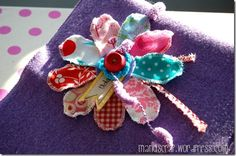 fabric flower Manu (My life with scrapbooking)