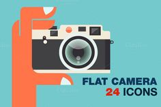 Flat Camera Icons Bundle by karnoff on @creativework247