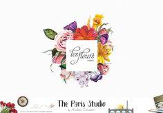 Vintage Flower Logo Design - restaurant logo, website logo, photography logo, boutique logo, creative business branding or small business logo.