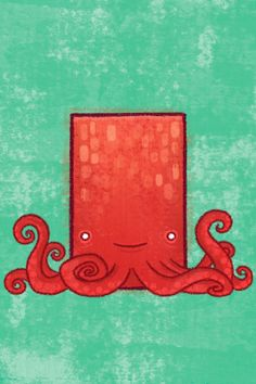 Square Animals by Ron Nadel, via Behance Iphone 5 Wallpaper, Animal Wallpaper, Cellphone Wallpaper, Cartoon Wallpaper, Wallpaper Backgrounds, Iphone Backgrounds, Octopus Artwork, Octopus Tentacles, Wallpaper Gallery