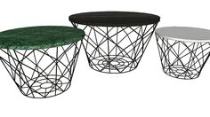 Large preview of 3D Model of  81832 Coffee Table East Round 3-Set