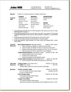 programmer resume sample - Programmer Resume Example