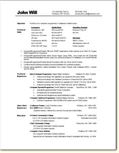 programmer resume sample - Computer Programmer Resume Examples
