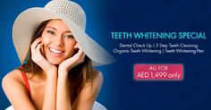 Get Super WOOW Teeth Cleaning, Teeth Whitening and a Teeth Whitening Pen all for just AED Simply call us at 04 4487016 to schedule your appointment NOW! Teeth Whitening Remedies, Natural Teeth Whitening, Teeth Cleaning, Cleaning Tips, Dental Check Up, Organic Cleaning Products, Teeth Care, Baking Soda, Schedule