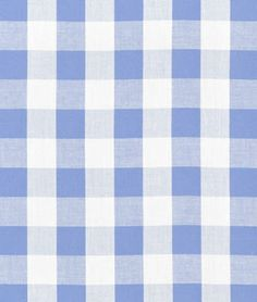 "Shop  1"" Blue Gingham Fabric at onlinefabricstore.net for $3.75/ Yard. Best Price & Service."