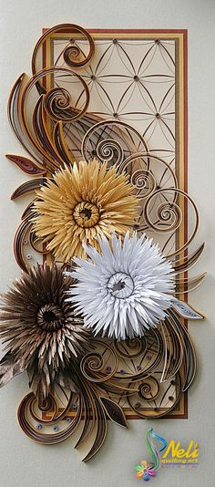 Neli is a talented quilling artist from Bulgaria. Her unique quilling cards bring joy to people around the world. Neli Quilling, Quilling Cards, Quilling Ideas, Diy And Crafts, Paper Crafts, Quilled Paper Art, Quilled Creations, Paper Wall Art, Peacock Art