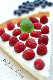 Kuchnia Letycji : Tarta z malinami i borówkami Raspberry, Cheesecake, Fruit, Food, Cheesecakes, Essen, Meals, Raspberries, Yemek